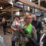 Bloemen voor de boekpresentatie